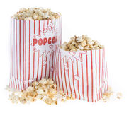 Popcorn bag isolated on white Royalty Free Stock Photography