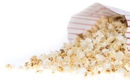 Popcorn bag isolated on white Stock Photo