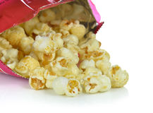 Popcorn bag on white background Royalty Free Stock Photography