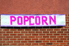 Popcorn banner. Royalty Free Stock Images