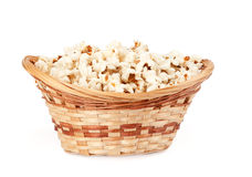 Popcorn in a basket Royalty Free Stock Photo