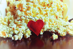 Free Popcorn Basket Near Candle Royalty Free Stock Image - 79688086