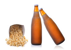 Popcorn and beer Stock Photo