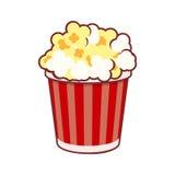 Popcorn Biosymbol på vit bakgrund vektor stock illustrationer