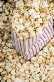 Popcorn on black background Royalty Free Stock Photography