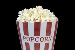 Popcorn on a black background Stock Images