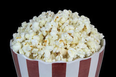Popcorn on a black background Royalty Free Stock Photos