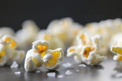 Popcorn  on black background Stock Images