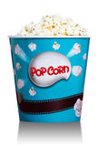 Popcorn in blue cardboard box for cinema Stock Photo