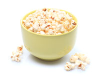 Popcorn in bowl stock images