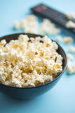 Popcorn in bowl Stock Photography
