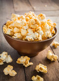 Popcorn in a bowl Stock Images