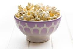 Popcorn in bowl Stock Image