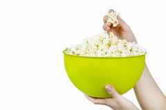 Popcorn bowl Stock Photography