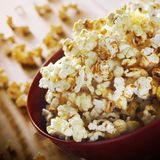 Popcorn in bowl photography stock photos