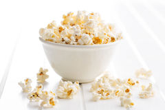 Popcorn in bowl Royalty Free Stock Images
