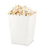 Popcorn  in box Stock Images