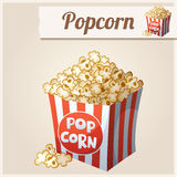 Popcorn box. Detailed Vector Icon Stock Photo