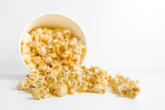 Popcorn in a box Stock Images