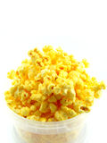 Popcorn in box. Isolated on white background Stock Photography
