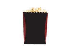 Popcorn in box isolated on white background Stock Image