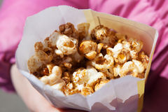 Popcorn in the box Royalty Free Stock Photos