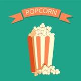Popcorn box vector icon. Stock Photo