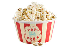 Popcorn box. On a white background royalty free stock photos