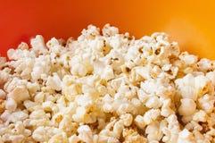 Popcorn in bright plastic bowl Royalty Free Stock Photo