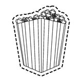 Popcorn bucket icon image. Vector illustration design Royalty Free Stock Photography
