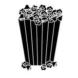 Popcorn bucket icon. Over white background.  illustration Royalty Free Stock Photo