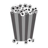 Popcorn bucket icon. Over white background.  illustration Stock Photos