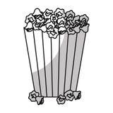 Popcorn bucket icon. Over white background.  illustration Stock Photo