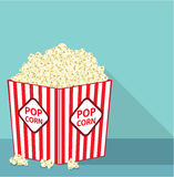 Popcorn bucket vector. Popcorn bucket eps file vector Stock Image
