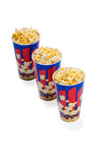 Popcorn buckets Stock Photo