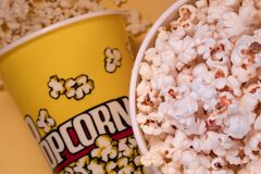 Popcorn buckets with salted popcor