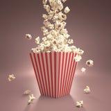 Popcorn cadente Immagini Stock