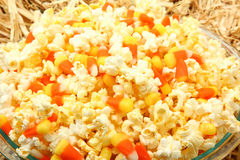 Popcorn Candy Corn Mix Stock Photography