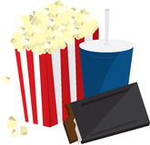 Popcorn Candy and Drink Royalty Free Stock Image