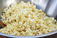 Popcorn a caramel coated in a bowl. Stock Images