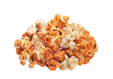 Popcorn in caramel isolated Stock Images