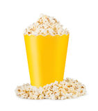 Popcorn in cardboard box Royalty Free Stock Images