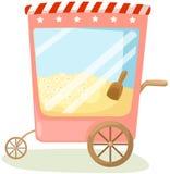 Popcorn cart. Illustration of isolated popcorn cart on white background vector illustration