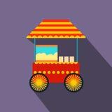 Popcorn cart flat icon Royalty Free Stock Photography