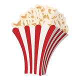 Popcorn cartoon icon Stock Images