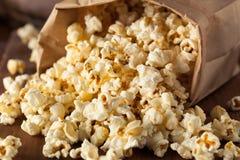 Popcorn casalingo del cereale del bollitore fotografia stock