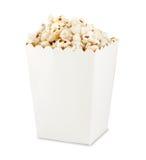 Popcorn in casella immagini stock