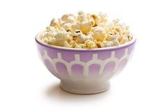 Popcorn in ceramic bowl Royalty Free Stock Image