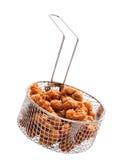 Popcorn chicken basket isolated Royalty Free Stock Photo