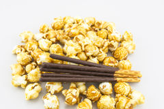 Popcorn Chocolate Stick Royalty Free Stock Image